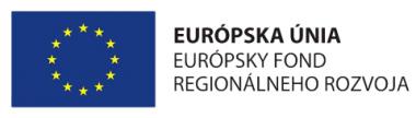 Logo - EÚ - Európsky fond regionálneho rozvoja